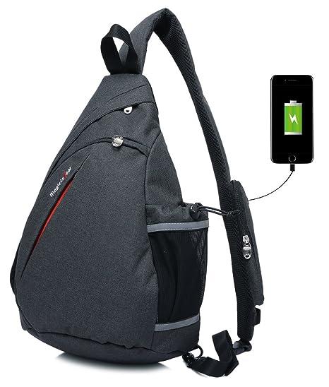 077e089fa275 Magictodoor Sling Bag Travel Backpack Wear Over Shoulder or Crossbody Chest Bag  Black