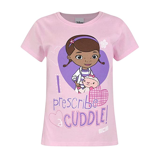 ce2e219d62 Doc McStuffins Childrens Girls I Prescribe A Cuddle T-Shirt (Years (1 2))  (Light Pink)  Amazon.ca  Clothing   Accessories