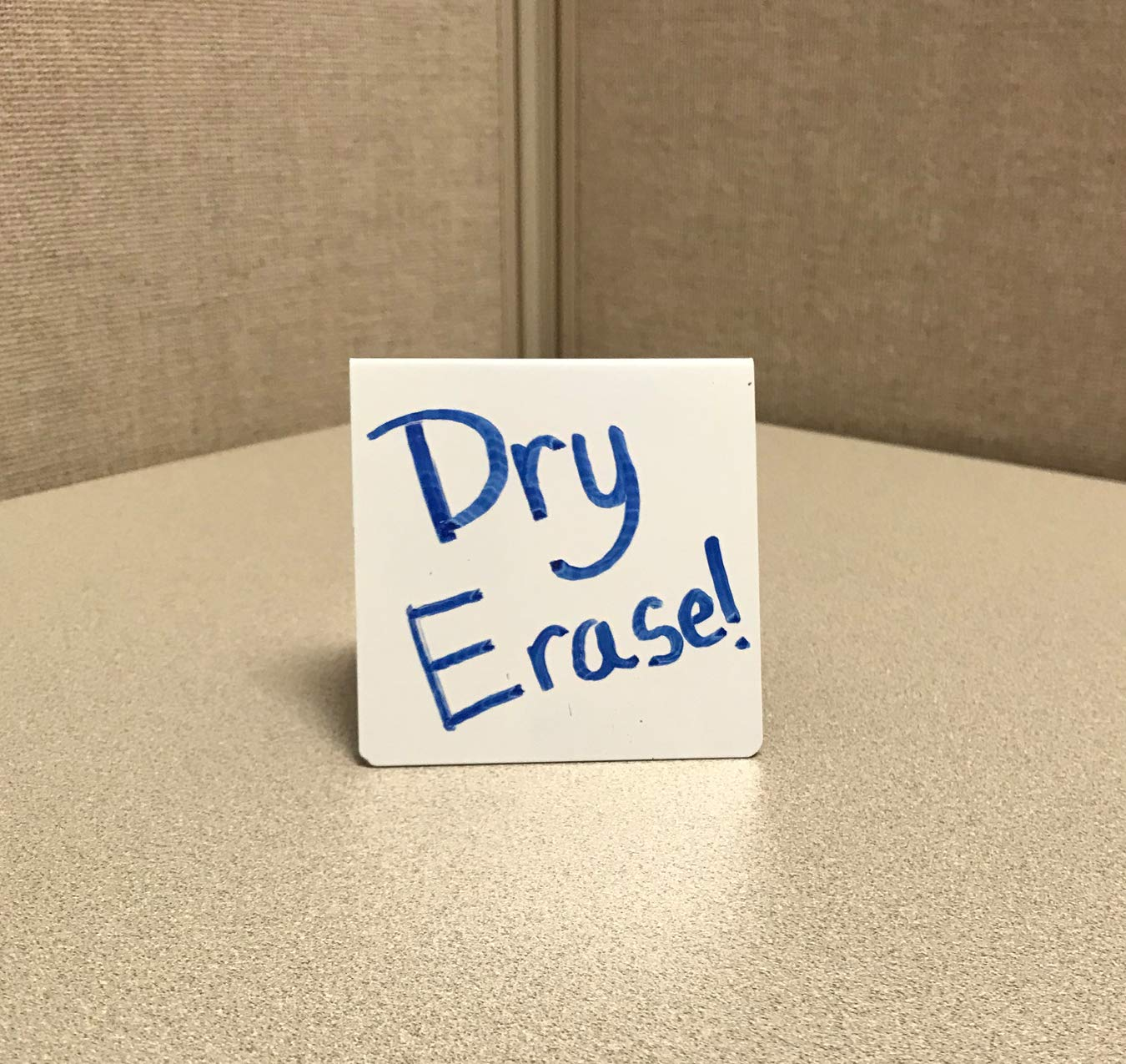 Dry Erase Table Tent Sign, 3'' x 3,'' Pack of 25 by NapTags