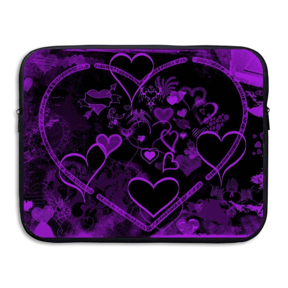 Ministoeb Purple Love Seamless Art Laptop Storage Bag - Portable Waterproof Laptop Case Briefcase Sleeve Bags Cover