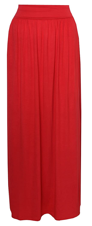 Womens Turn up Waist Long Maxi Skirt