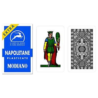 Napoletane 97/31 Modiano Regional Italian Playing Cards. Authentic Italian Deck.: Sports & Outdoors