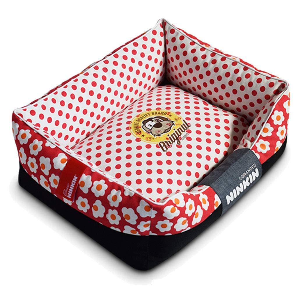 35×45cm A 35×45cm A pet bed Pet Mat, Large Dog Kennel Cat House Removable And Washable Nest Wear-resistant Bite Pet Bed (color   A, Size   35×45cm)