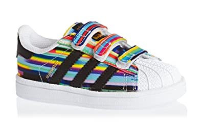 san francisco c0f51 d3b83 adidas Superstar CF I Basket Mode Fille Multicolore 20