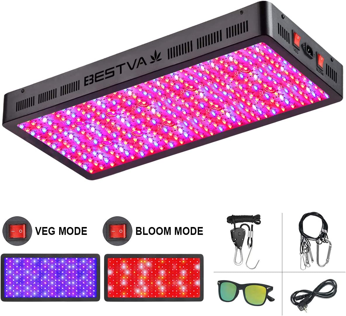 200W Cree LED CXB3070 Powered Grow Light 4 COB