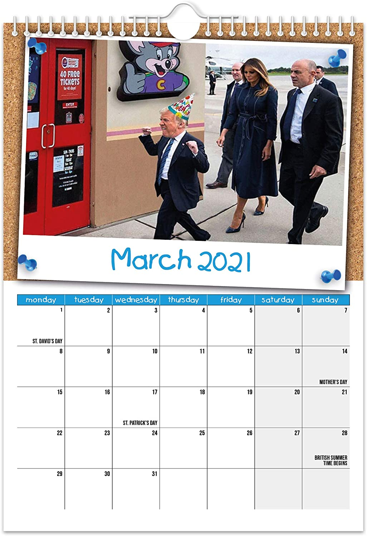 Kid Trump 2021 Wall Calendar Funny Quirky Christmas Birthday Gift Idea Present