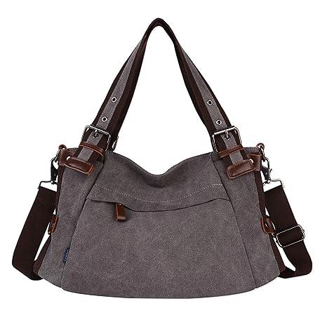 e63656f48d82 Retro Hobo Style Women's Canvas Casual Handbag Shoulder Bag Messenger Bag  Purse