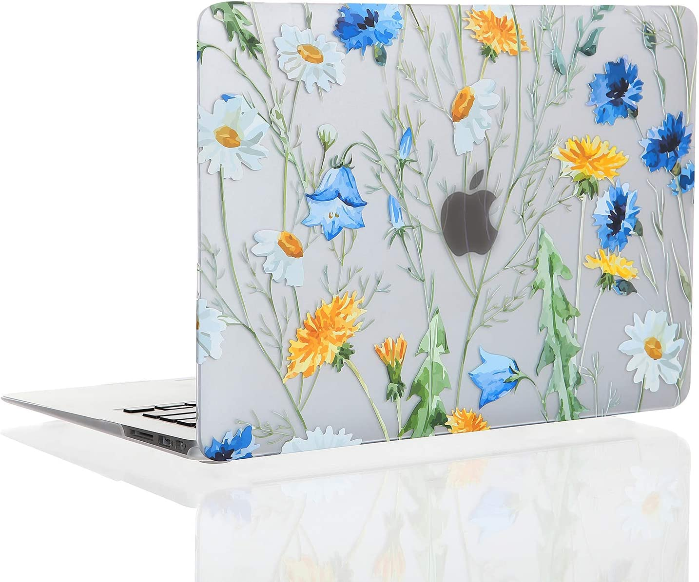 EkuaBot Floral Daisy MacBook Air 13 inch Case (A1369/A1466, Older Version 2010-2017 Release), Matt Rubber Coated Soft Touch Hard Case Only Compatible MacBook Air 13.3