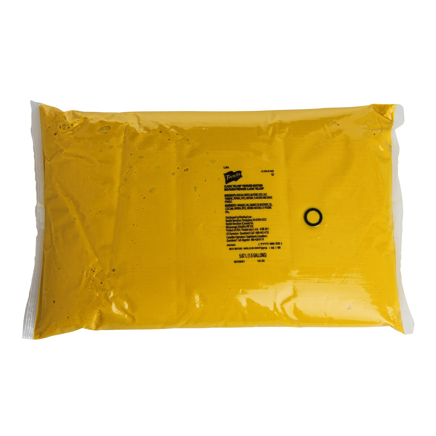 French's Classic Yellow Mustard Pouch, 192 Fluid Ounce