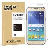 Samsung Galaxy J5 Protection écran, iVoler® Film Protection d'écran en Verre Trempé Glass Screen Protector Vitre Tempered pour Samsung Galaxy J5 SM-J500H - Dureté 9H, Ultra-mince 0.20 mm, 2.5D Bords Arrondis- Anti-rayure, Anti-traces de doigts,Haute-réponse, Haute transparence- Garantie de Remplacement de 18 Mois