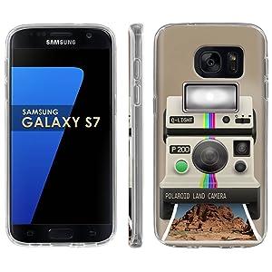 Samsung Galaxy [S7] Phone Case [ArmorXtreme] [Clear] Designer Image [Flexi Gel TPU] - [Classic Polaroid] for Samsung Galaxy S7 / GS7