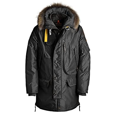 parajumpers mens kodiak jacket black down parka