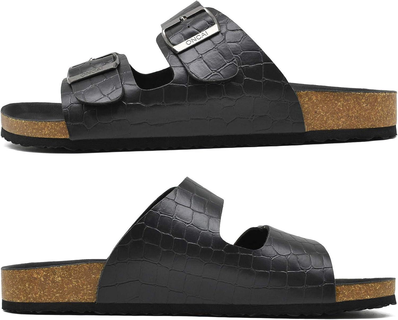 ONCAI Homme-Mules-Sandales-Claquette-Arizona-Slide-Sandales de Plage Loisir Bout Ouvert Chaussures de Plage Antid/érapant /Ét/é Confortable Chaussons