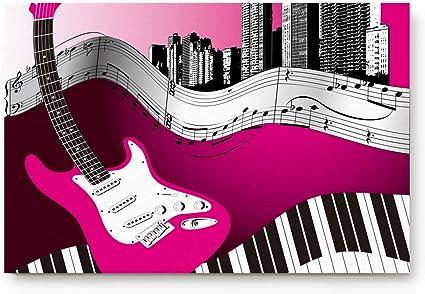 Kinhevao Alfombrilla Personalizada Teclado de Guitarra Baja ...