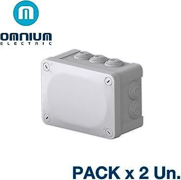 Caja estanca IP55, 150x105x80mm, con conos y tapa con tornillos ...