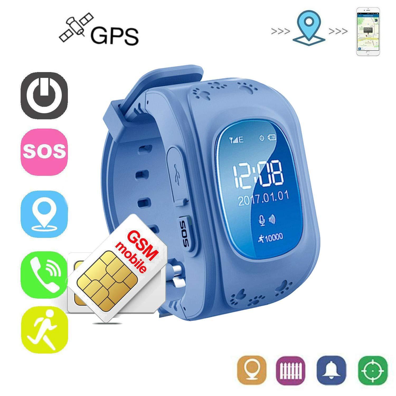 Reloj Inteligente Niño con Tarjeta SIM Reloj Smartwatch Niños Pulsera Actividad Niños GPS Soporte GPS + LBS de Doble Posicionamiento para Evitar Que ...