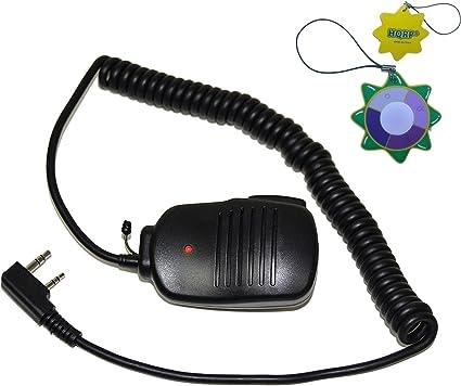 2 Pin PTT Mini Speaker Mic for Kenwood Pro-Talk Pro-Power Free-Talk Protalk XLS