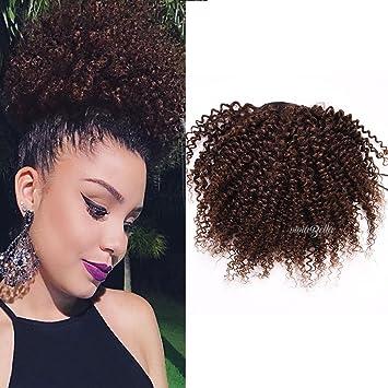 Amazon afro kinky curly ponytail hair extensions brazilian afro kinky curly ponytail hair extensions brazilian virgin hair drawstring hairpieces ponytail 90g 10quot pmusecretfo Images