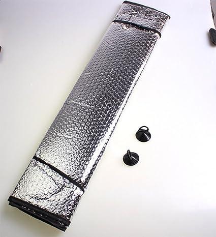 Westeng Coche delantero parabrisas Visera Doble Hoja de Aluminio Bloqueador Solar de Coche Protección UV Parasol-silver 140*70CM: Amazon.es: Electrónica