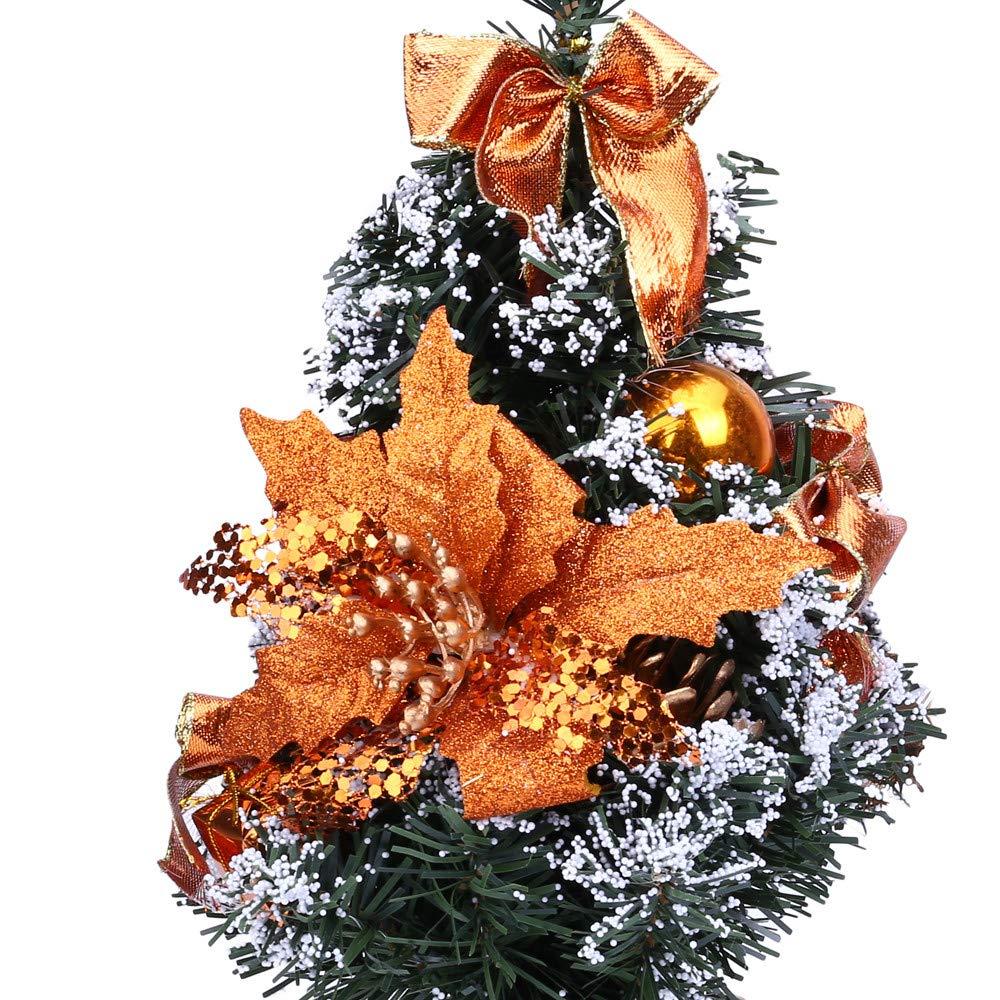 Prevently 30cm K/ünstlicher Weihnachtsbaum Mit Weihnachtskugel,Kunst Tannenbaum Christbaum Sch/öner zum Dekorieren Weihnachten Dekoration