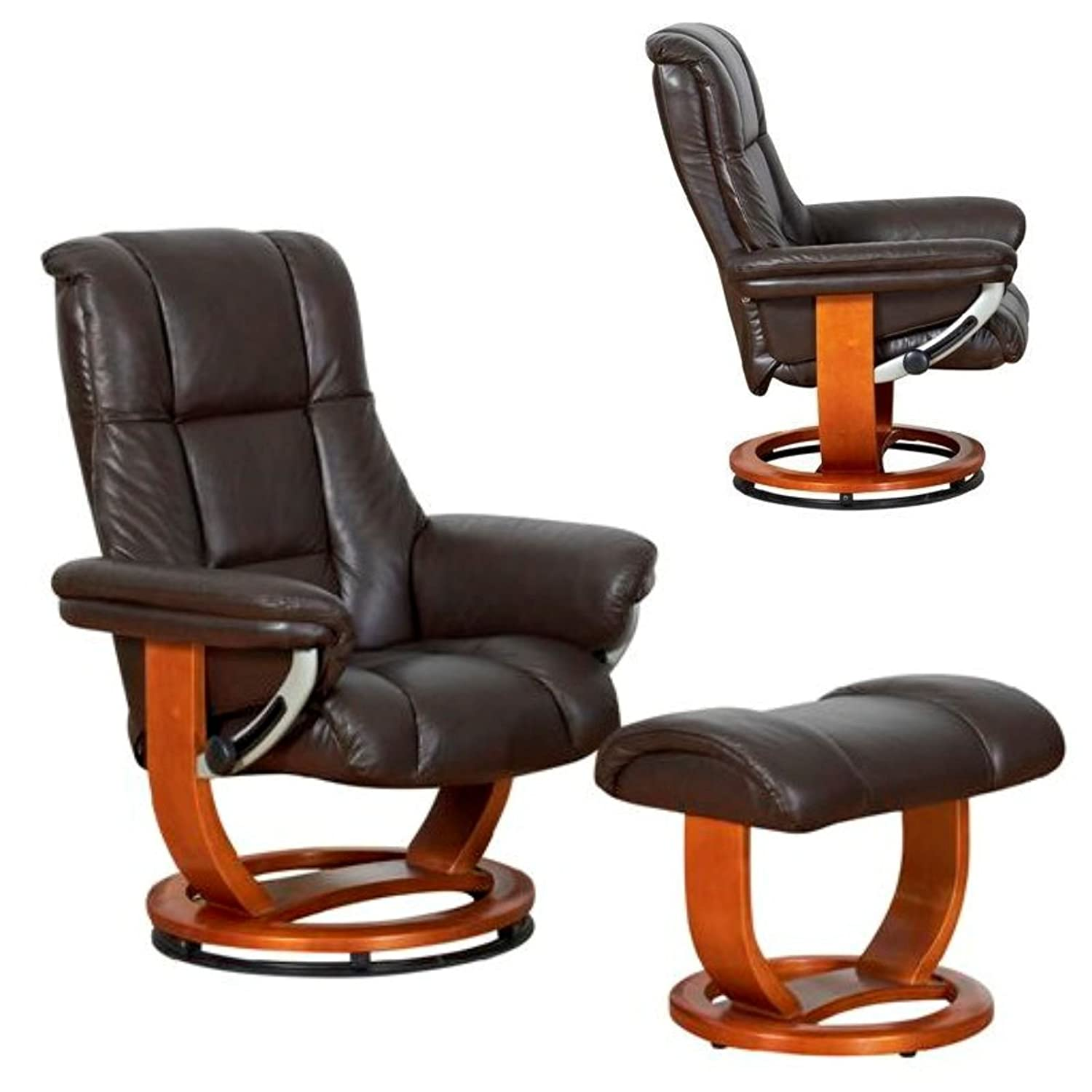 The Windsor Standard - Genuine Leather Recliner Swivel Chair in Chocolate Amazon.co.uk Kitchen u0026 Home  sc 1 st  Amazon UK & The Windsor Standard - Genuine Leather Recliner Swivel Chair in ... islam-shia.org