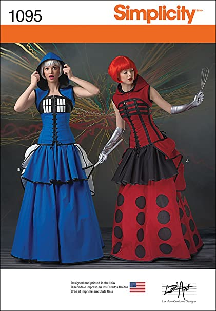Amazon.com: Simplicity 1095 Time Traveler Cosplay And Halloween Costume  Sewing Pattern For Women, Sizes 14 22: Arts, Crafts U0026 Sewing