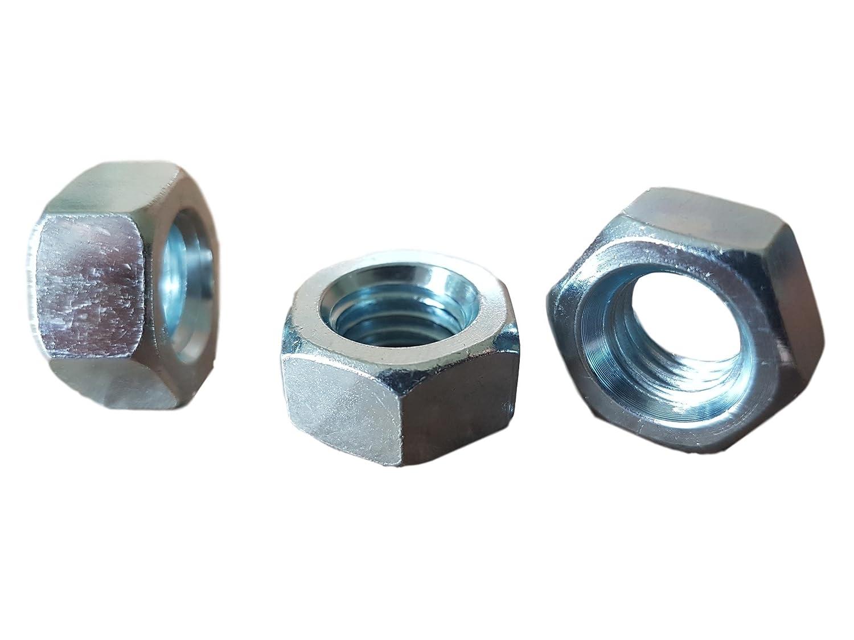 (Lot de 30pcs) M1212mm en acier galvanisé Écrous DIN 934Class 8 Inega