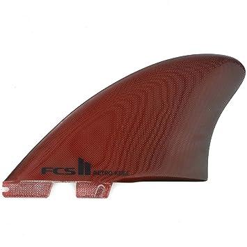 Yakwax FCS II Retro Keel PG - Aletas para Tabla de Surf, Color Rojo, Rojo, Specialised: Amazon.es: Deportes y aire libre