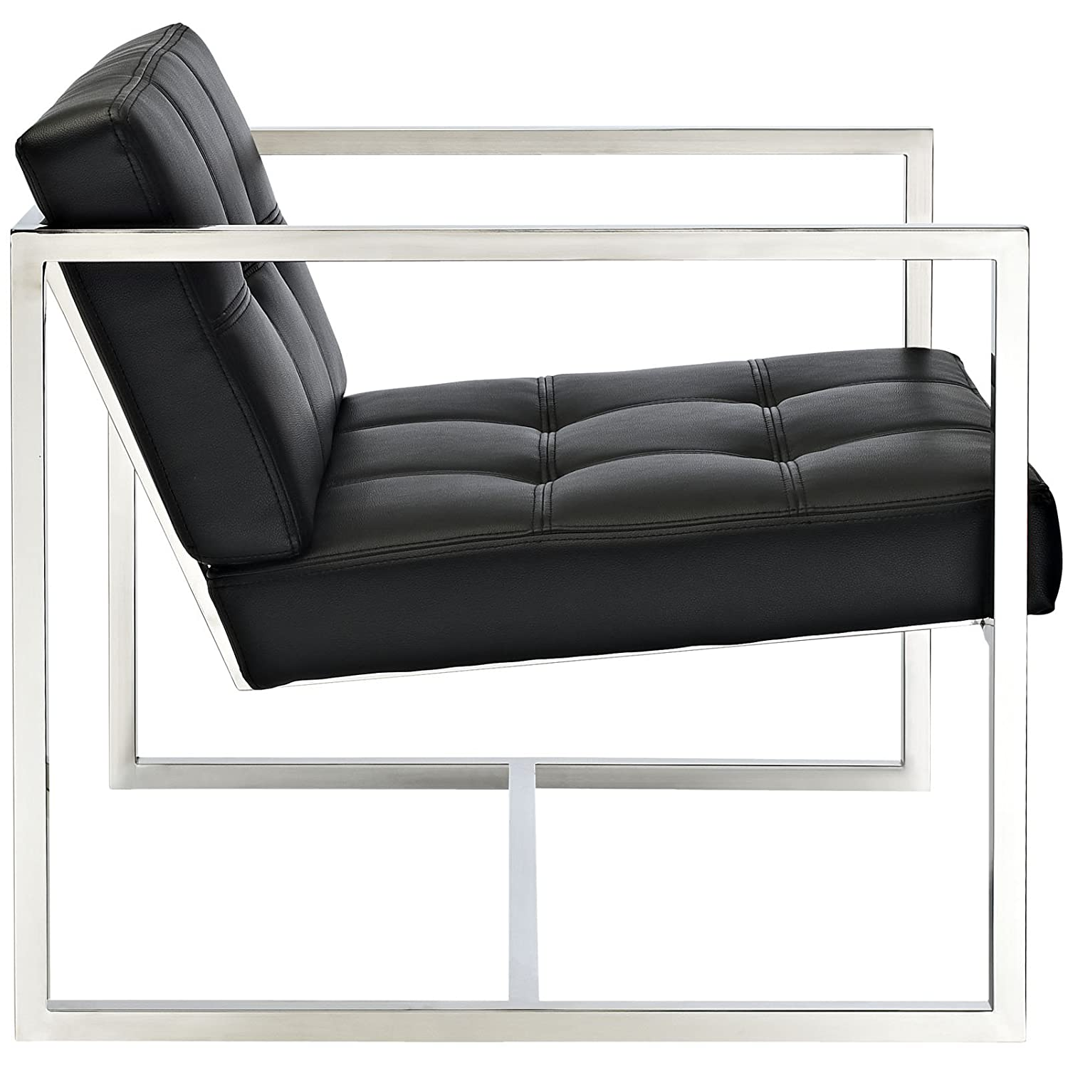 amazoncom modway hover modern reception chair black kitchen  - amazoncom modway hover modern reception chair black kitchen  dining