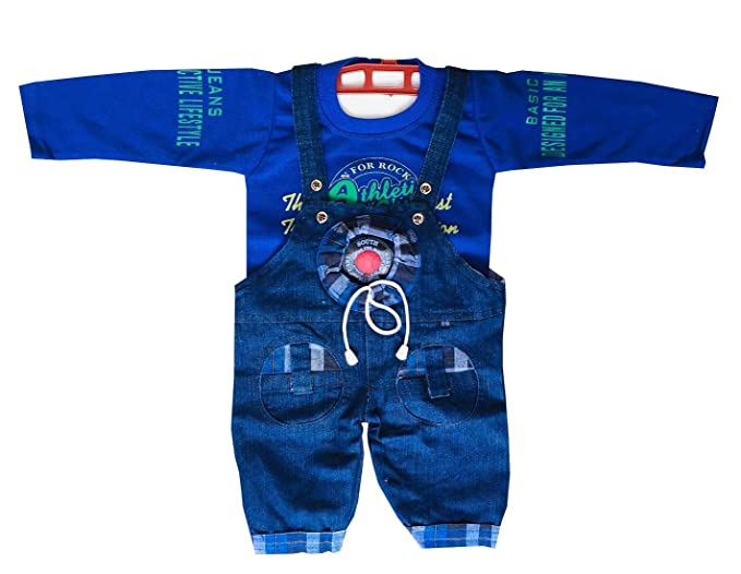 12-18 Months Brilliant Next Baby Boy Blue Denim Dungarees Boys' Clothing (newborn-5t) Clothing, Shoes & Accessories