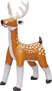 Jet Creations Inflatable Standing Reindeer - Classic Edition Classic Colored Deer Toy - Indoor/Outdoor Blowup Decoration for Lawn, Christmas, Pool Party, Birthday - Antlers, Tail, White Spot Details