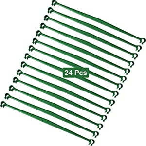 Amgate 24 Pcs Garden Stake Connector for Tomato Cage, 11.8