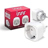 Innr Smart Plug, compatibel met Philips Hue*, Alexa & Hey Google (bridge vereist) slimme stekker, 2300W, 10A, 2-Pack, SP…