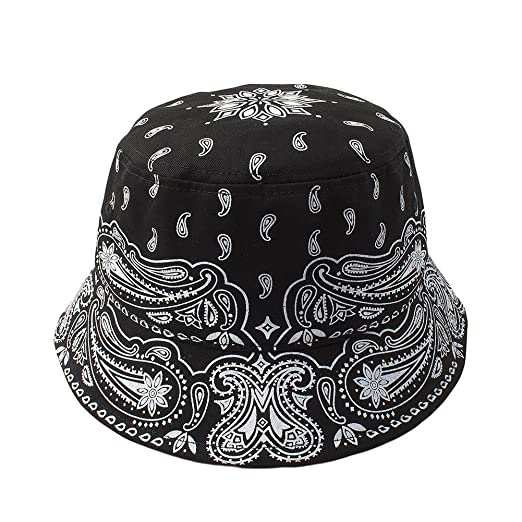 Cap2Shoes Men s Bandana Bucket Hat One Size Black at Amazon Men s Clothing  store  2daf732b04fb
