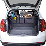 Backseat Trunk Organizer, Space Saving Car Trunk Organizer with Bottom Plate and Lid Trunk Storage for Kids, Travel, Heavy Duty 4 Pocket Auto Interior Cargo Accessories SUV & Car Organizer