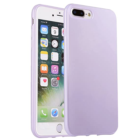 official photos 4112b 500ed iPhone 7 Plus Case, Manleno iPhone 8 Plus Case Soft Jelly Case Flexible TPU  Cover Case for iPhone 7 Plus 8 Plus 5.5 inch (Lavender)
