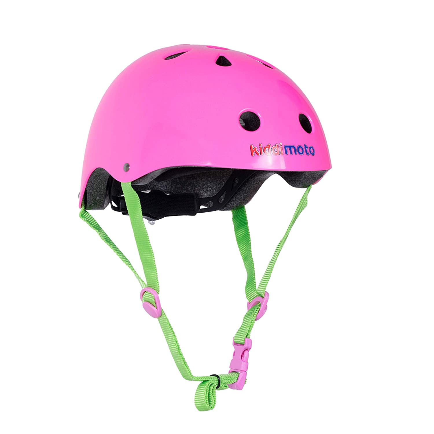 Kiddimoto One Color Helmet with Dial Adjustment for Kids Children Boys and Girls Small and Medium