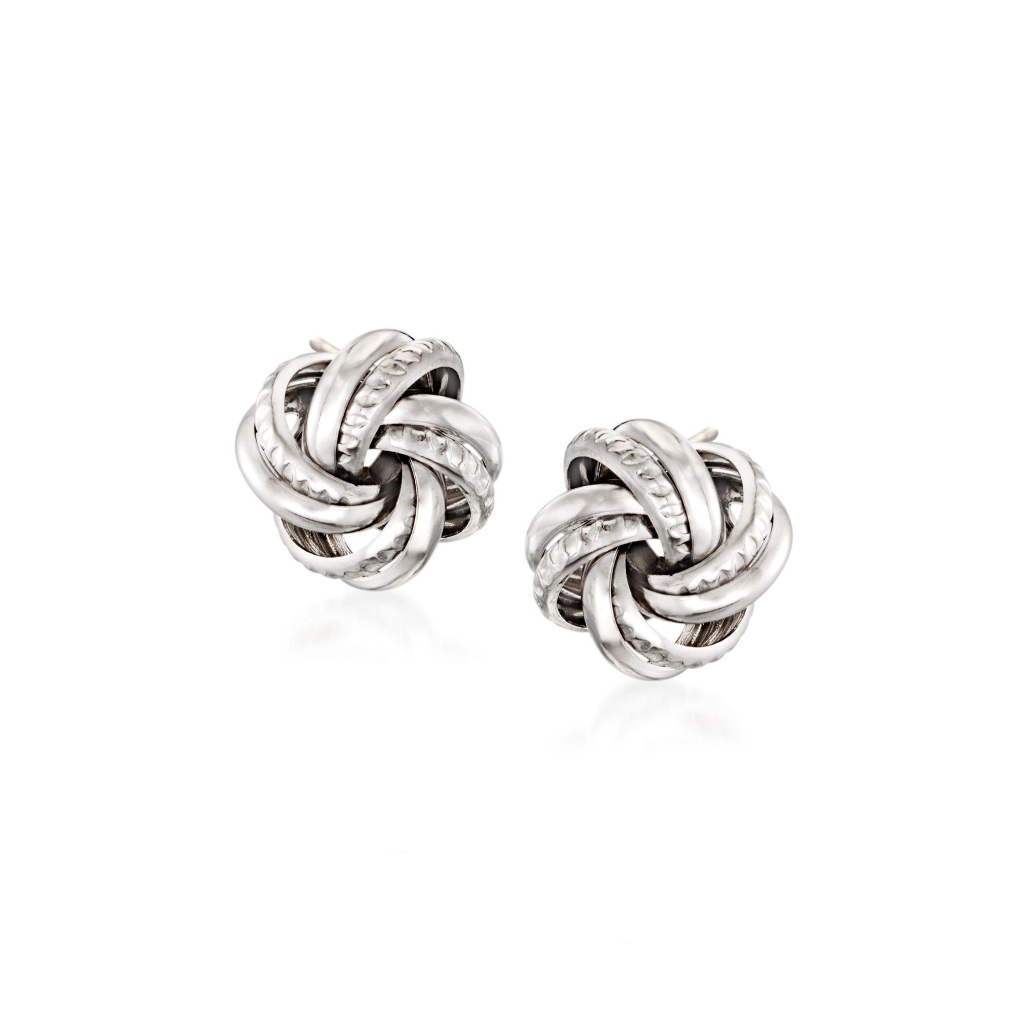 Ross-Simons Italian Sterling Silver Love Knot Earrings