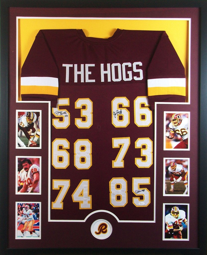washington redskins the hogs framed jersey signed jsa coa