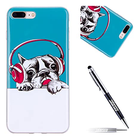 Funda iPhone 7 Plus, Carcasa iPhone 8 Plus Silicona, JAWSEU ...