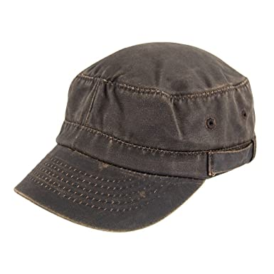 Village Hats Dorfman-Pacific Weathered Cotton Army Cap Large X-Large Brown 9fc0ae78b144