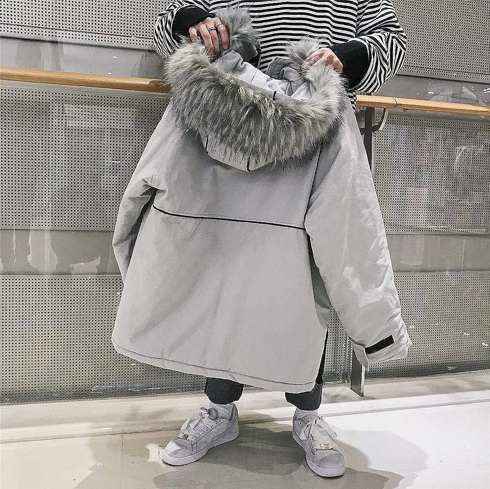 Shawujing Winter Baumwolle Männer Trend Kapuzenpullover Jugend Männer Lose Freizeitjacke Warme Jacke Bequeme Mode Schwarz