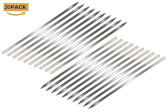 Amazon.com: De metal Plano Shish Kabob brochetas para ...