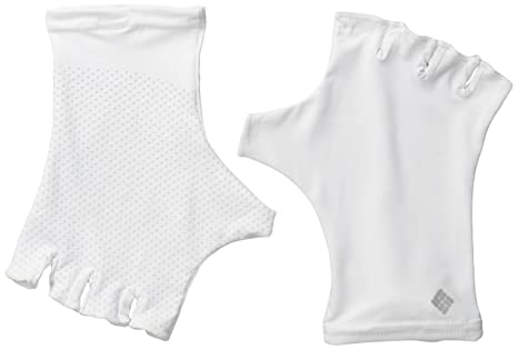 Columbia Men's Coolhead Fingerless Gloves, White, Large/X-Large