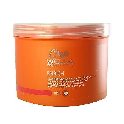 1b7b82e5af4 Wella Enrich Mask Thick Hair Mascarilla - 500 ml: Amazon.es: Belleza