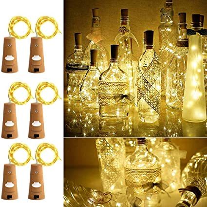 Led Lighting Led String Lights 2m 20leds Aa Battery Powered Wine Bottle Cork Shape String Lights For Bar Party Christmas Wedding Decoration Led String
