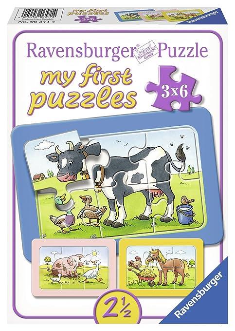 18 opinioni per Ravensburger 06571- My First Puzzle 3x6 Pezzi, Teneri Amici Animali