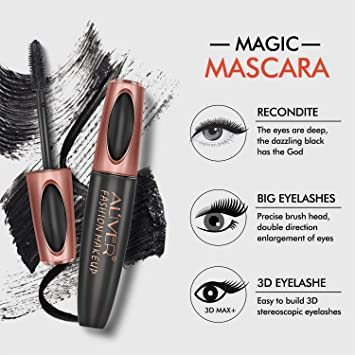 Amazon.com : 2PCS Mascara Cream, 4D Silk Fiber Eyelash Mascara, Extension Makeup Black Waterproof Eye Lashes Make Up Kit 0.6 fl. oz : Beauty