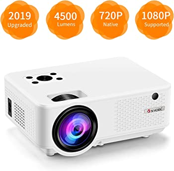Nyork NM1080 Full HD 1080p 4500-Lumens LCD Movie Projector