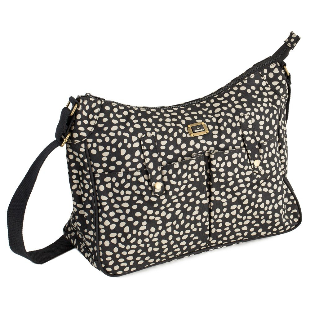 Caboodle Everyday Changing Bag (Black with Mink Spots